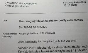 Read more about the article Tiukka korona-ajan talousarvio