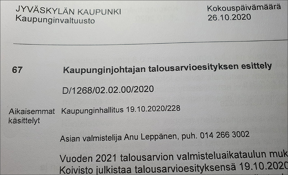 Tiukka korona-ajan talousarvio